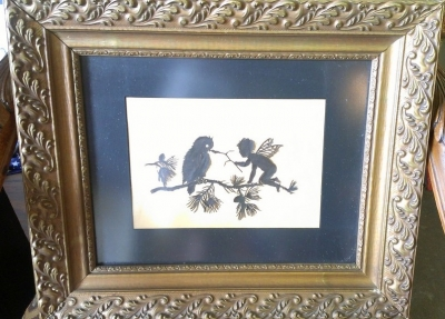 14h Victorian cut out in antique frame