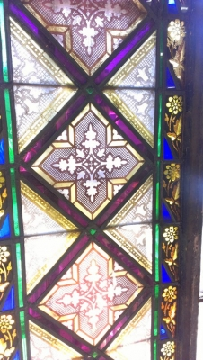 STAINED GLASS TRANSOM FROM THE TURN OF THE CENTURY