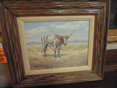 13L09 Long horn painting