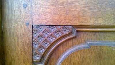 19th century cabinet doors detail