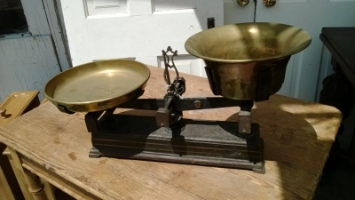 brass scale from turn of the century