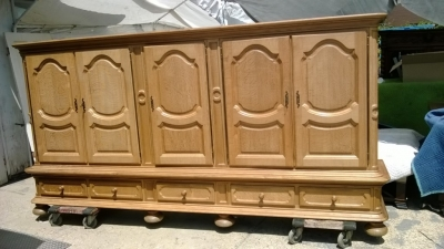 huge rustic cabinet oak