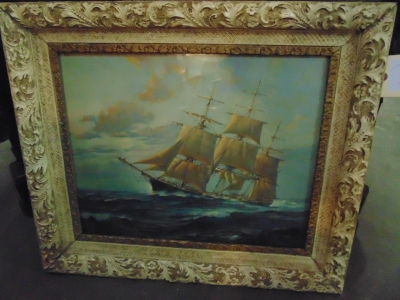 13L17017 FRAMED SHIP PAINTING  (2)