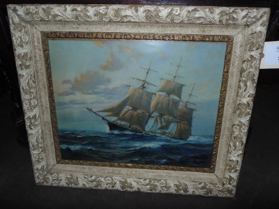 13L17017 FRAMED SHIP PAINTING  (3)