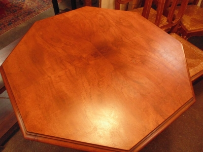 13L17019 OCTAGON WALNUT OCCASIONAL TABLE  (3)