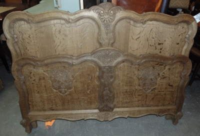 13J24056 RAW OAK COUNTRY FRENCH BED (3)