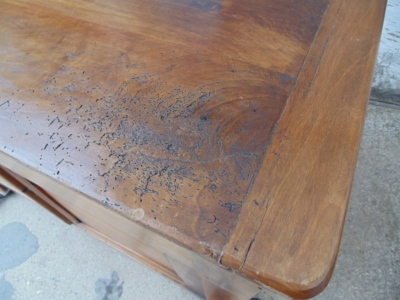 14B24110 EARLY LOUIS PHILLIPE WALNUT DOUGH BIN WITH FLIP UP TOP  (1)