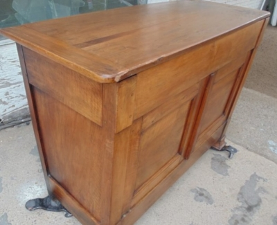 14B24110 EARLY LOUIS PHILLIPE WALNUT DOUGH BIN WITH FLIP UP TOP  (2)