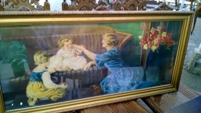14I16038 VINTAGE PRINT OF MOTHER AND CHILDREN (2).jpg