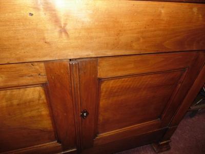 14B24110 EARLY LOUIS PHILLIPE WALNUT DOUGH BIN WITH FLIP UP TOP  (4)
