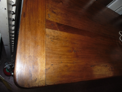 14B24110 EARLY LOUIS PHILLIPE WALNUT DOUGH BIN WITH FLIP UP TOP  (5)
