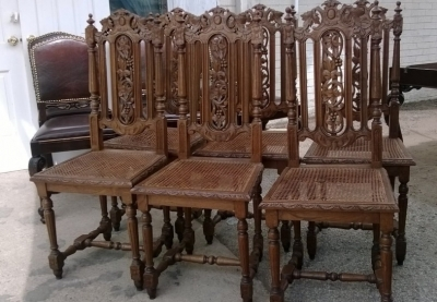 14I16052 SET OF 6 CANED SEAT FRENCH CHAIRS (3).jpg