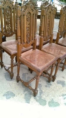 14I16052 SET OF 6 CANED SEAT FRENCH CHAIRS (4).jpg