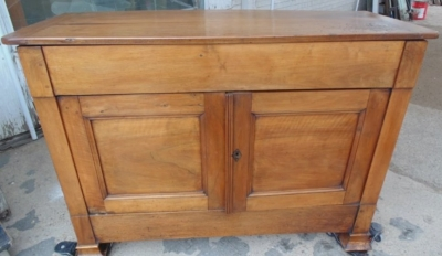 14B24110 EARLY LOUIS PHILLIPE WALNUT DOUGH BIN WITH FLIP UP TOP  (6)