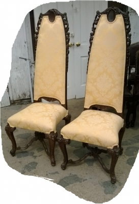 14I16054 PAIR OF CARVED HIGHBACK HALL CHAIRS (1).jpg