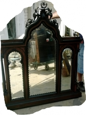 189-French Dresser with Gothic elements (5).jpg