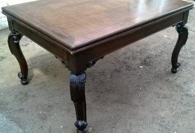 14I16027 ACANTHUS LEAF CARVED OAK DRAWLEAF TABLE  (2).jpg