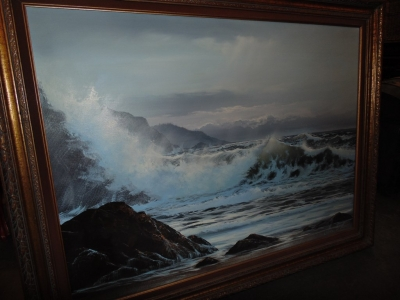 14C10350 LARGE OIL OF OCEAN