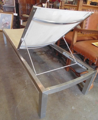 14C10633 MODERN STAINLESS POOL BENCH KINSLEY AND BATE (3)