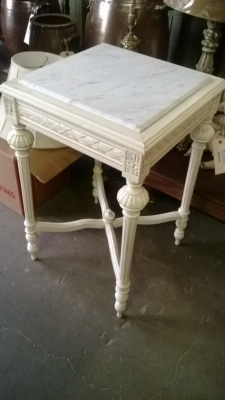 14I22432  MARBLE TOP PAINTED LOUIS XVI STAND .jpg