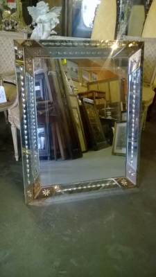 14I29200 CUT MIRROR WITH PEACH GLASS ACCENTS  (2).jpg