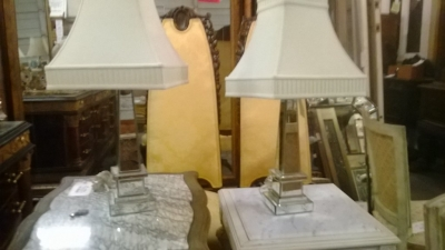 14I29321 PAIR OF LARGE MIRRORED TABLE LAMPS  (1).jpg