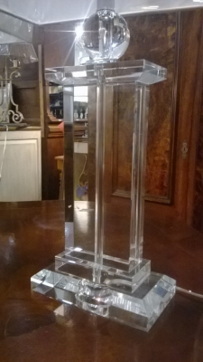 14I30101 PAIR OF CLEAR GLASS TABLE LAMPS (2).jpg