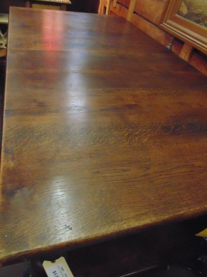 14C10200A RUSTIC OAK KITCHEN ISLAND TYPE TABLE WITH LOWER SHELF (4)