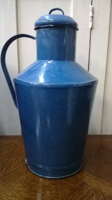 14J22009 LARGE ENAMELWARE PITCHER.jpg