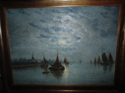 14C10320 oIL PAINTING BY JOSEPH HYMANS (1)
