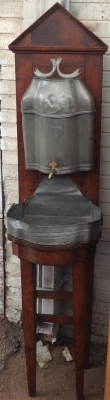 14C06006 FRENCH PEWTER TALL LAVABO ON STAND.JPG