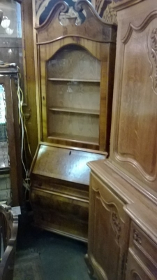 14J22041 BURLED WALNUT BOOKCASE SECRETARY (2).jpg