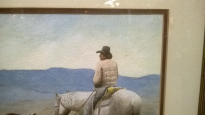 36-84413 VINTAGE ARTISIT SIGNED COWBOY WATER COLOR  (2).jpg