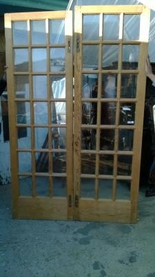 14K12013 PAIR OF STRIPPED PINE FRENCH DOORS (1).jpg