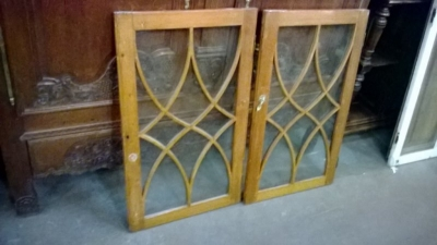 14K10451 PAIR OF OAK MULLIONED DOORS.jpg