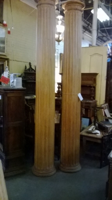 14K12002 PAIR OF PINE ARCHITECTURAL COLUMNS (1).jpg