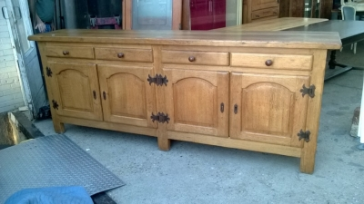 14K19036  LARGE RUSTIC OAK SIDEBOARD WITH ARCHED DOORS (1).jpg