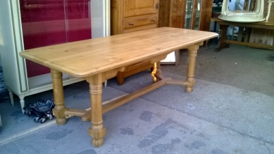 14K19041   LIGHT OAK HARVEST TABLE.jpg