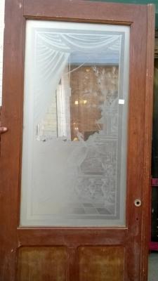 14K190 PAIR OF DOORS WITH ETCHED GLASS PHEASANTS (2).jpg.jpg