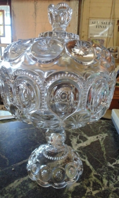 14C17430 LARGE 4 PART MOLD LIDDED COMPOTE 1890