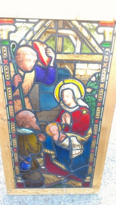 14k24 Incarnation window. HORRIBLE picture. Looks great in person!