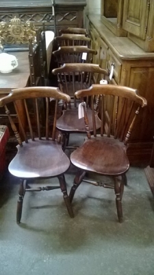 14K19015 SET OF 6 BOWBACK OAK CHAIRS.jpg