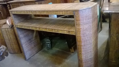 14L01490  CANE AND BAMBOO SOFA TABLE .jpg
