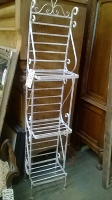36-84729 VINTAGE PAINTED PLANT STAND OR BAKERS RACK.jpg