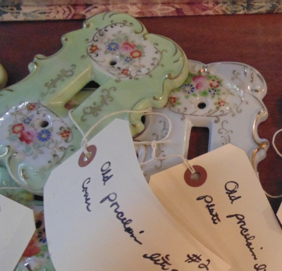 02 LOT OF ASSORTED PORCELAIN SWITCH COVERS
