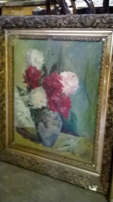 14L15161 J.A. GERMAN ROSES IN VASE OIL PAINTING.jpg