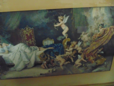 2003 Lithograph of cherubs and lady (1)