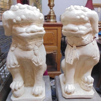123 LARGE FOO DOGS ON BASES