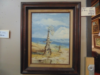 12E14561 OIL PAINTING OF WINDMILL  SOLD!