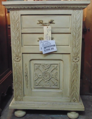 Sold!     12f22032C OAK CABINET WITH LIFT LID $375.00